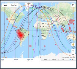 earthquakes astrocartography